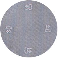 ジャガード織りで仕上げたブランドロゴ